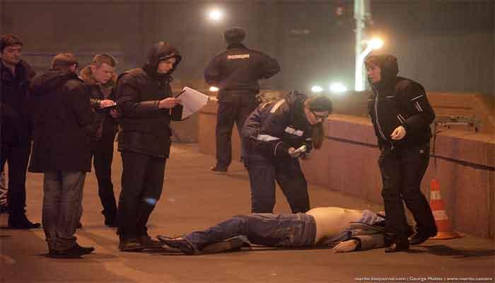 Круглосуточная камера зафиксировала убийство Немцова. Видео