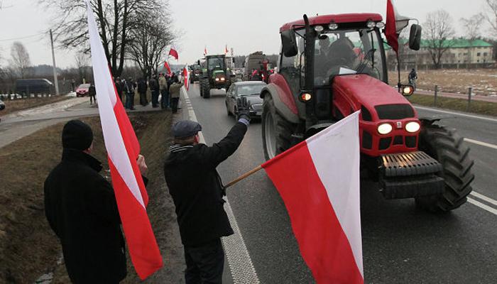 Польские фермеры заблокировали железную дорогу Москва-Варшава